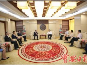 香港全港各區工商聯盧錦欽會長一行到訪寶安
